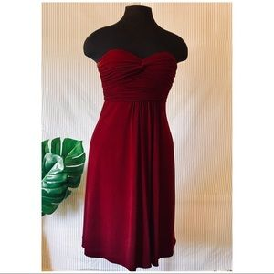Deep Red Cocktail Dress by Laundry (Shelli Segal)